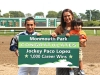 Jockey Paco Lopez scored his 1,000th career victory aboard Whitey\'s Gold