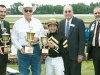 D. WAYNE LUKAS AND JOE BRAVO (Trophy Presentation) OHIO DERBY 2015