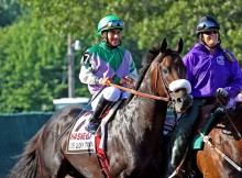 Paco Lopez with J J'S Lucky Train in G1 Haskell (7-31-2011)
