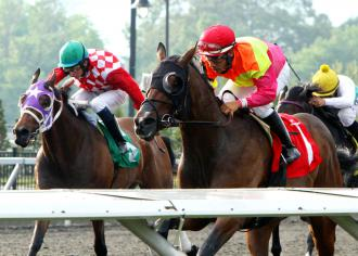 Go Blue or Go Home (right) wins the Boyes Memorial under Paco Lopez