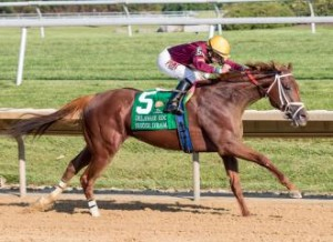 071815-Sheer Drama wins the 78th Delaware Handicap-SS 63